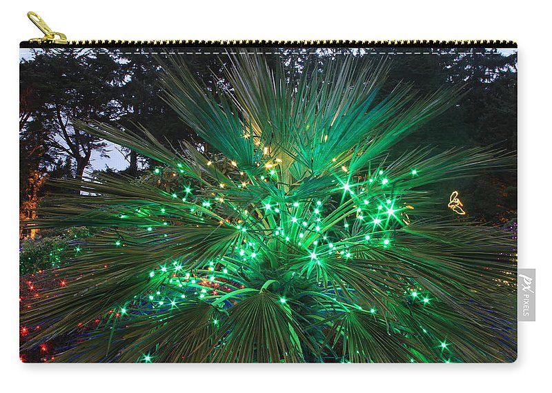Christmas Carry-all Pouch featuring the photograph Lighting In The Greens by Laddie Halupa