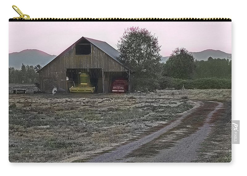 Lightly Colored Carry-all Pouch featuring the photograph Lightly Colored Barn by Mick Anderson