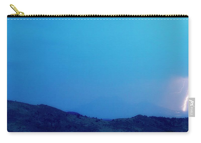 Continental Divide Carry-all Pouch featuring the photograph Lightning Bolts Hitting The Rocky Mountains Continental Divide by James BO Insogna