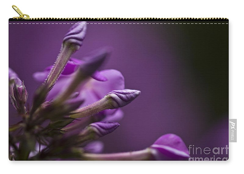 Lilac Carry-all Pouch featuring the photograph Lilac Spirals. by Clare Bambers