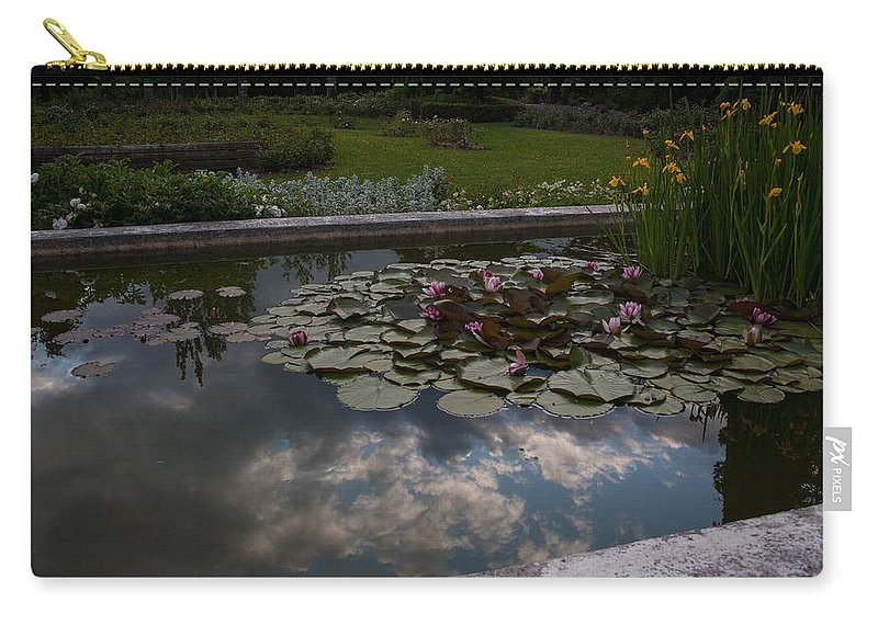 Water Lily Carry-all Pouch featuring the photograph Lillies And Clouds by Mike Reid