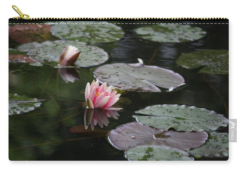 Lily Pads Carry-all Pouch featuring the photograph Lily Pads by Donna Walsh