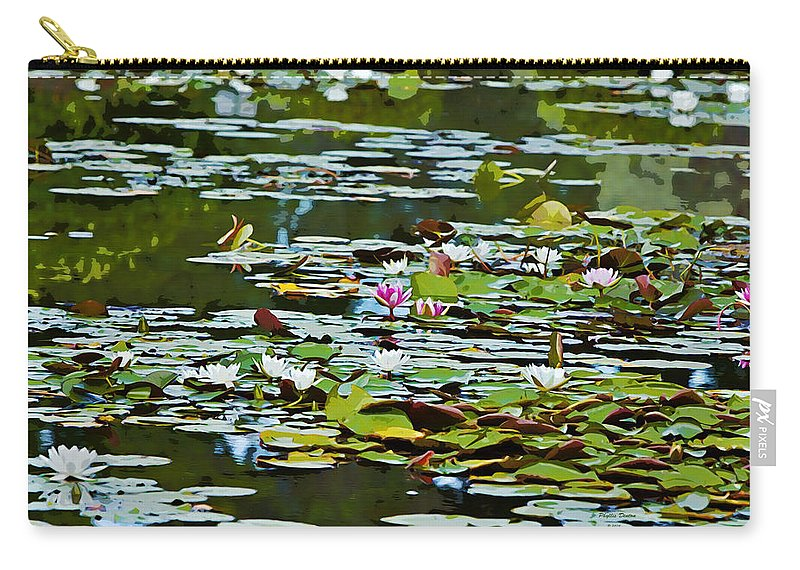 Lily Carry-all Pouch featuring the photograph Lily Pond by Phyllis Denton