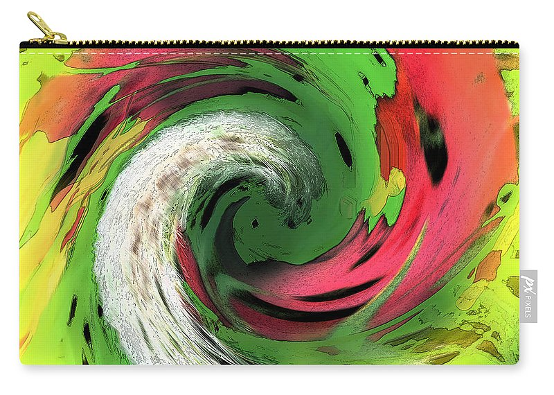Abstract Carry-all Pouch featuring the digital art Lime And Red by Ian MacDonald