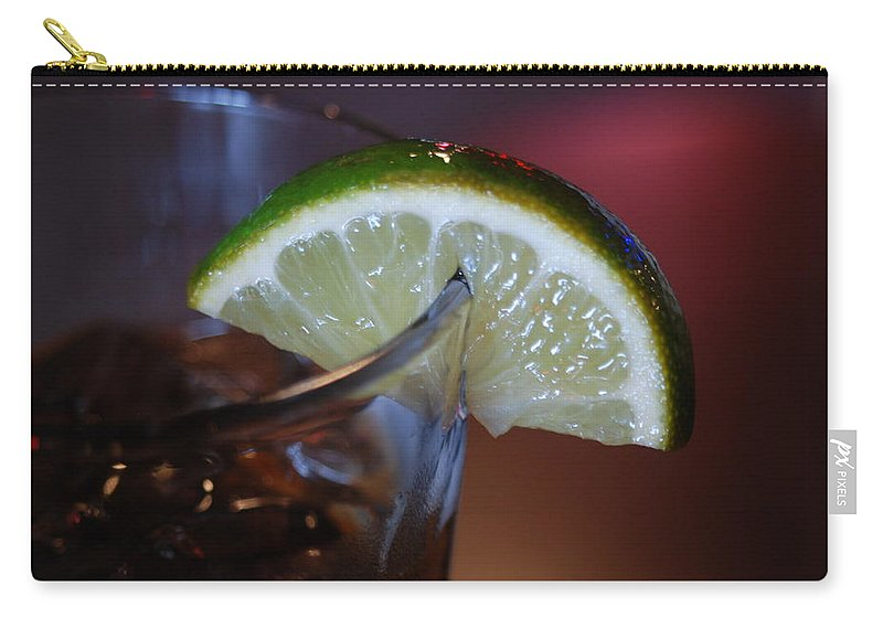 Lime Carry-all Pouch featuring the photograph Lime Time by Michael Merry