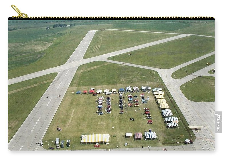 Lincoln Carry-all Pouch featuring the photograph Lincoln Il Airport by Thomas Woolworth