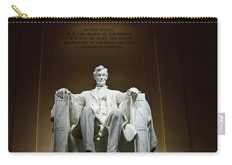 Service Carry-all Pouch featuring the photograph Lincoln by Jim Chamberlain