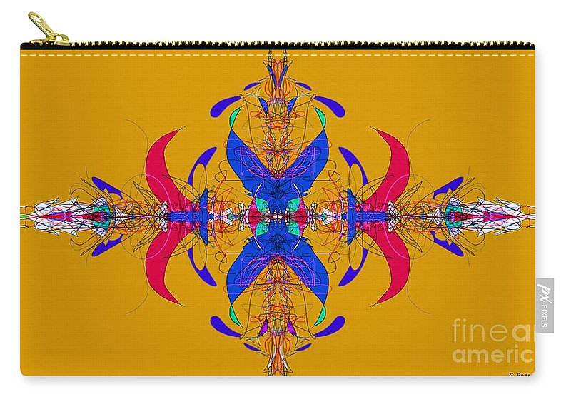 Fractal Carry-all Pouch featuring the digital art Linear Movement Number 3 by George Pedro