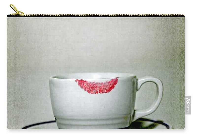 Cup Carry-all Pouch featuring the photograph Lip Marks by Joana Kruse
