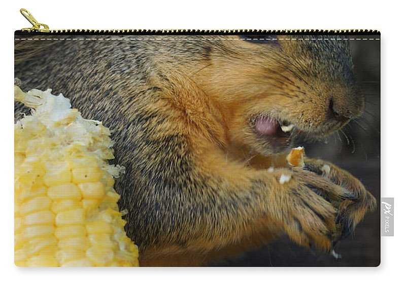 Squirrel Carry-all Pouch featuring the photograph Lip Smackin Good by Lori Tordsen