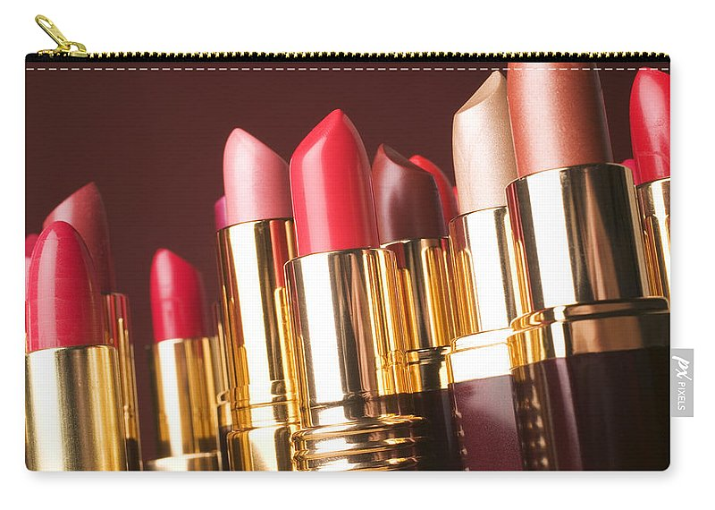 Lipstick Carry-all Pouch featuring the photograph Lipstick Tubes by Garry Gay