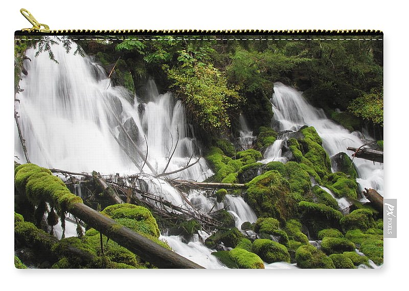 Clear Carry-all Pouch featuring the photograph Listen To The Water by Katie Wing Vigil