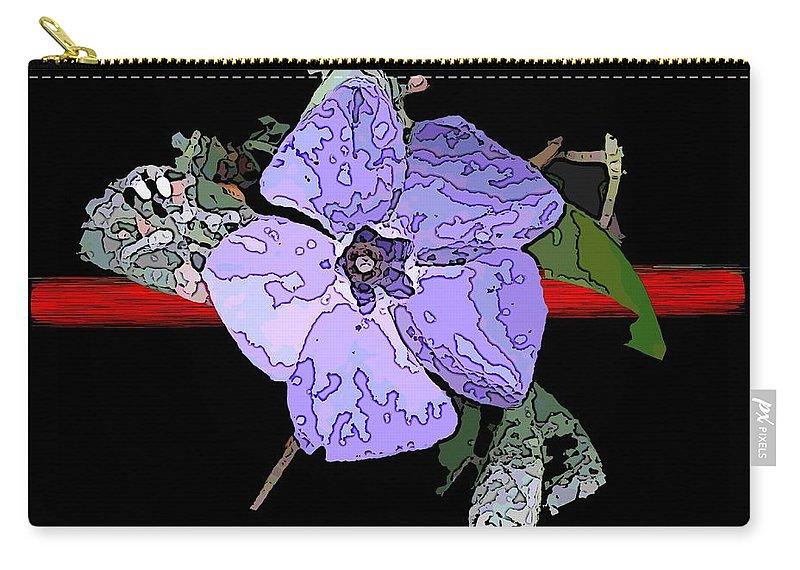 Flower Carry-all Pouch featuring the digital art Little Blue 3 by Tim Allen