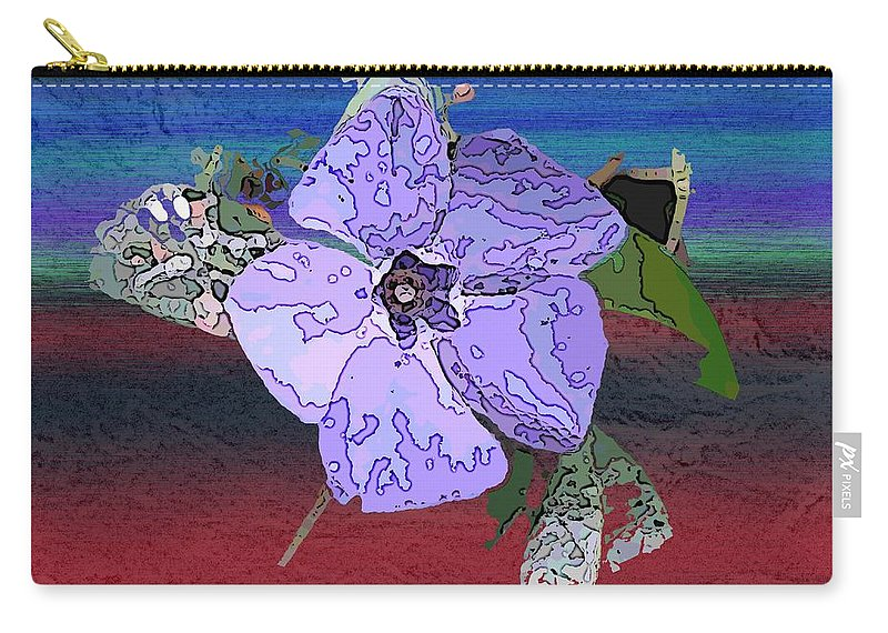 Flower Carry-all Pouch featuring the digital art Little Blue by Tim Allen