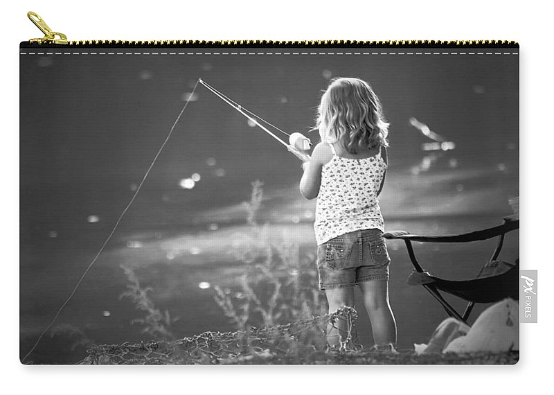 2d Carry-all Pouch featuring the photograph Little Fishing Girl by Brian Wallace