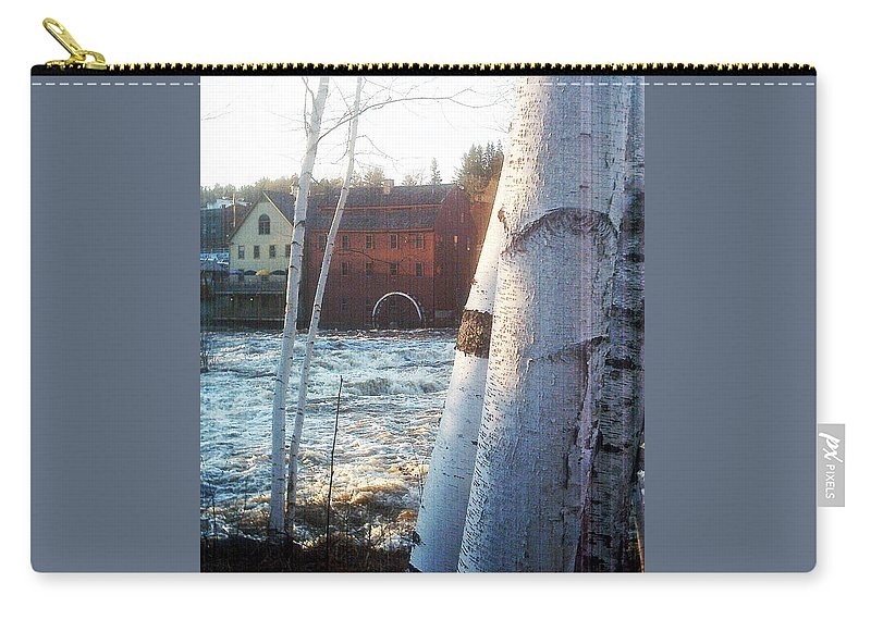 Littleton New Hampshire Framed Prints Carry-all Pouch featuring the photograph Littleton On The Ammonoosuc by Marie Jamieson