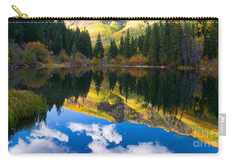 Colorado Carry-all Pouch featuring the photograph Lizard Lake Reflections by Steve Stuller