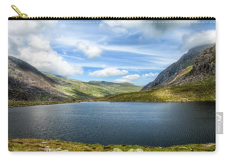 Plants Carry-all Pouch featuring the photograph Llyn Idwal Lake by Adrian Evans