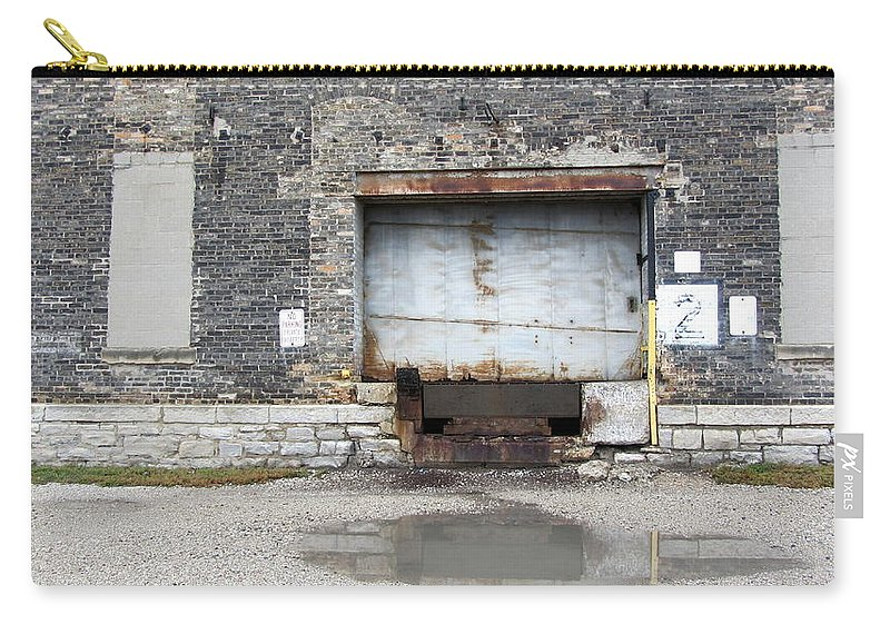 Milwaukee Carry-all Pouch featuring the photograph Loading Dock Door 1 by Anita Burgermeister
