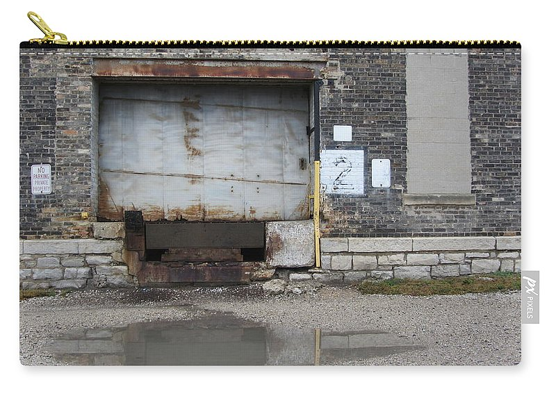 Milwaukee Carry-all Pouch featuring the photograph Loading Dock Door 2 by Anita Burgermeister
