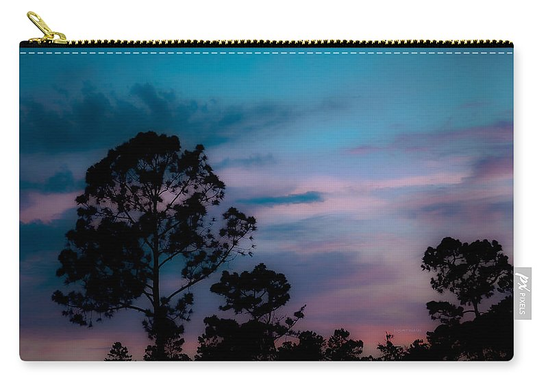 Sky Carry-all Pouch featuring the photograph Loblelly Pine Silhouette by DigiArt Diaries by Vicky B Fuller