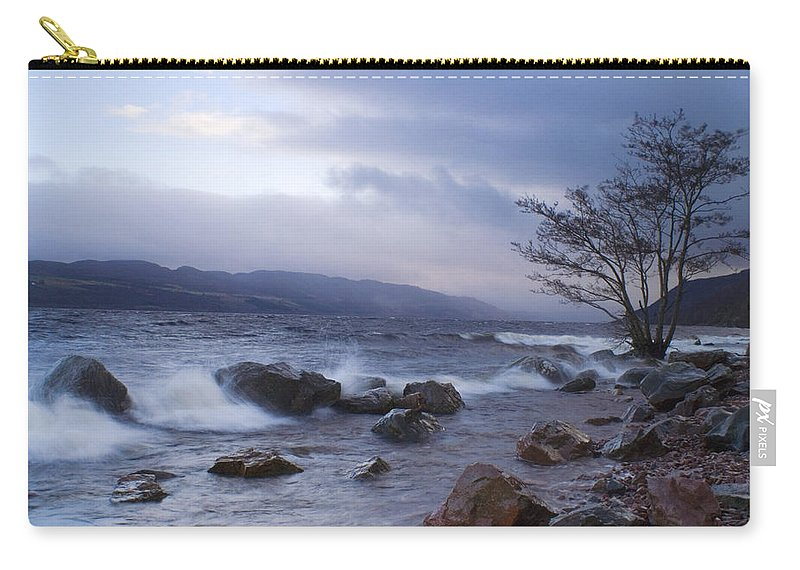 Loch Ness Carry-all Pouch featuring the photograph Loch Ness Shoreline At Dusk by Howard Kennedy