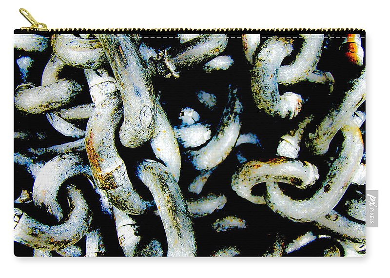 Chains Carry-all Pouch featuring the photograph Locked Up In Chains by Mother Nature