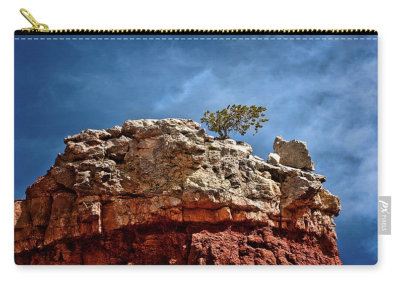 Rock Carry-all Pouch featuring the photograph Lofty Solitude by Christopher Holmes