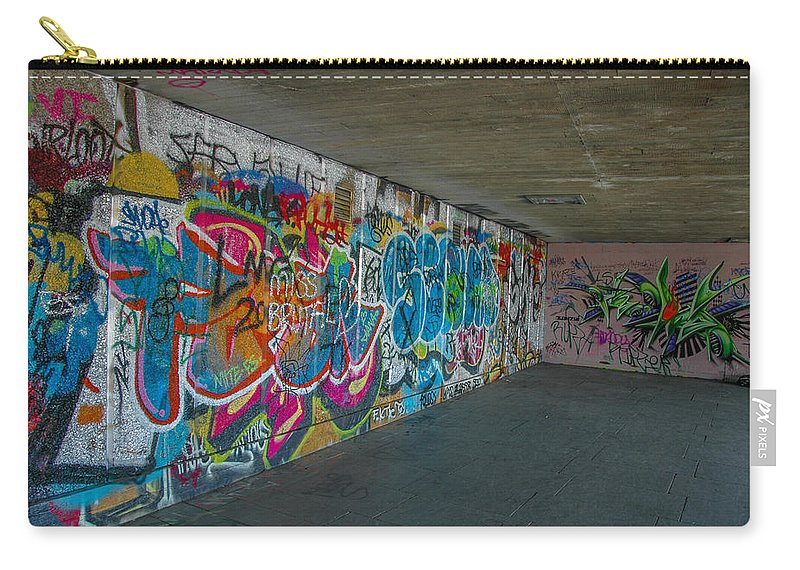 Street Art Carry-all Pouch featuring the photograph London Skatepark 5 by Jonah Anderson