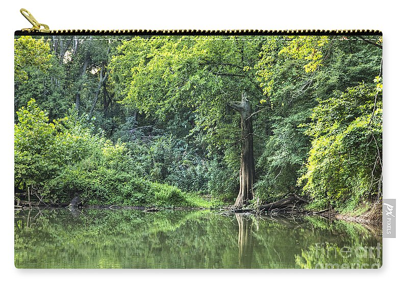 2012 Carry-all Pouch featuring the photograph Lone Cypress by Larry Braun