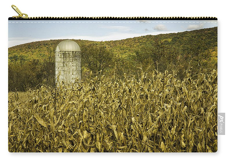Landscape Carry-all Pouch featuring the photograph Lone Silo by Fran Gallogly
