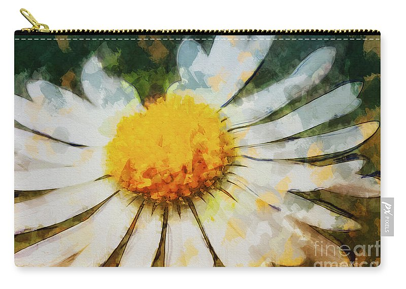 Photo Carry-all Pouch featuring the photograph Lonely Daisy by Jutta Maria Pusl