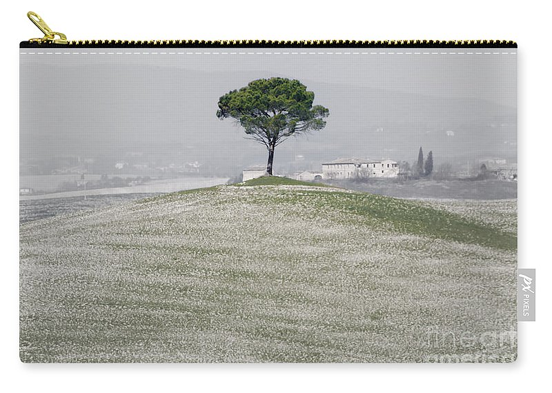 Tree Carry-all Pouch featuring the photograph Lonely Tree by Mats Silvan
