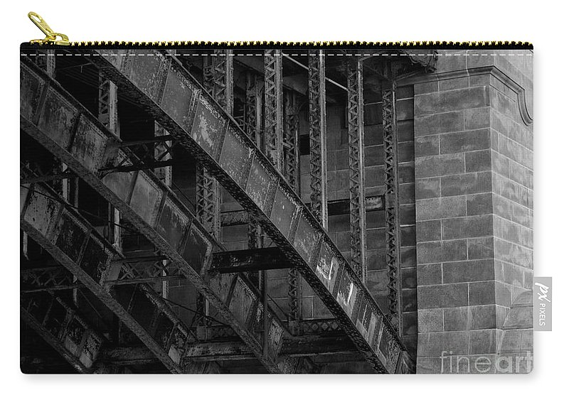 Black Carry-all Pouch featuring the photograph Longfellow Bridge by Kevin Fortier