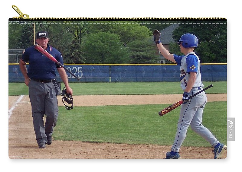 Sports Carry-all Pouch featuring the photograph Look Before Crossing by Thomas Woolworth