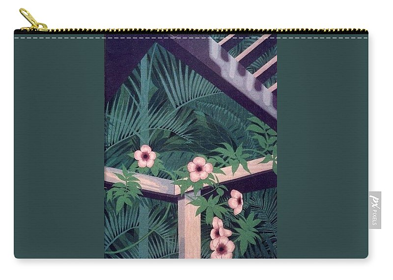 Flowers Carry-all Pouch featuring the painting Look Up by Richard Laeton