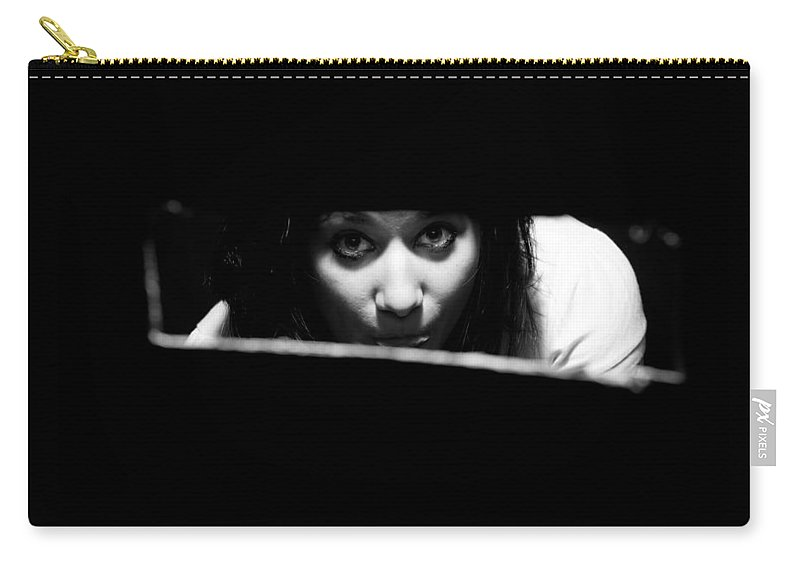 Looking Carry-all Pouch featuring the photograph Looking Hole by Scott Sawyer