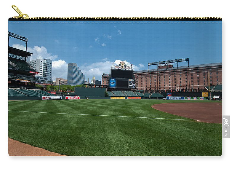 oriole Park Carry-all Pouch featuring the Looking Towards Center by Paul Mangold