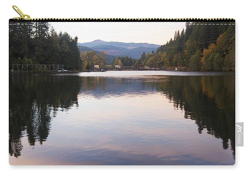 Art Carry-all Pouch featuring the photograph Looking Towards Leaburg Dam by Belinda Greb