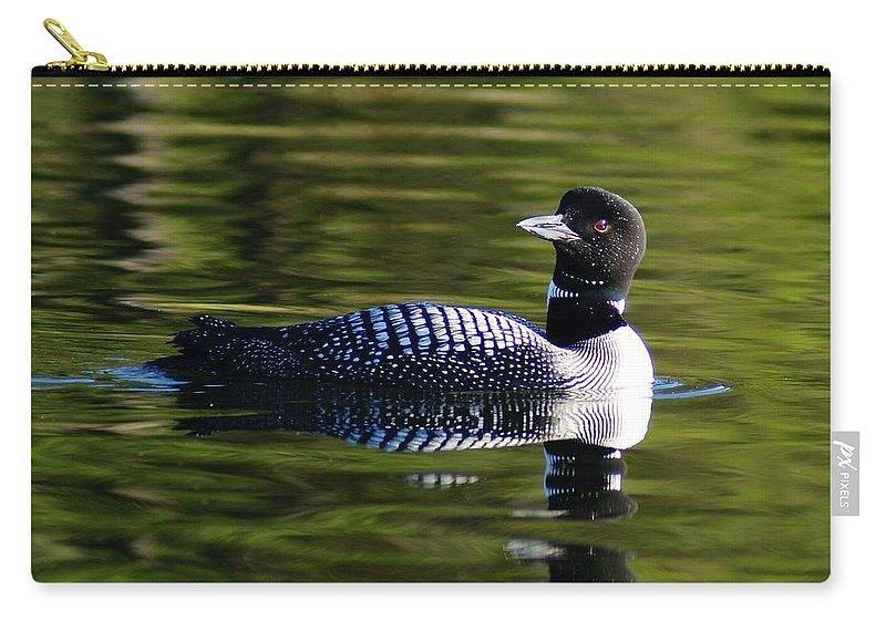 Loon Carry-all Pouch featuring the photograph Loon 4 by Steven Clipperton