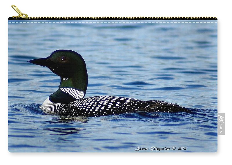 Loon Carry-all Pouch featuring the photograph Loon 5 by Steven Clipperton