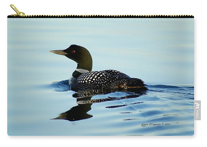 Loon Carry-all Pouch featuring the photograph Loon by Steven Clipperton