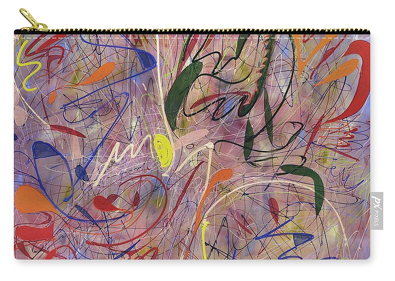 Abstract Carry-all Pouch featuring the painting Looney Tunes by Lynne Taetzsch