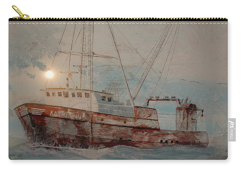 Lost Carry-all Pouch featuring the photograph Lost At Sea by Jim Cook