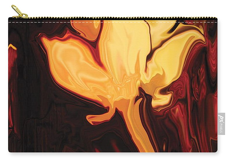 Black Carry-all Pouch featuring the painting Lotus Flower by Rabi Khan