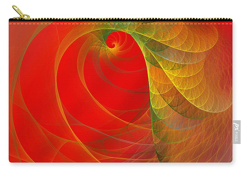 Fractal Carry-all Pouch featuring the digital art Loud by Betsy Knapp