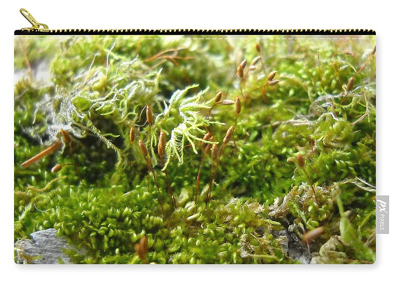Lichen Carry-all Pouch featuring the photograph Lovely Green Lichen by Kent Lorentzen