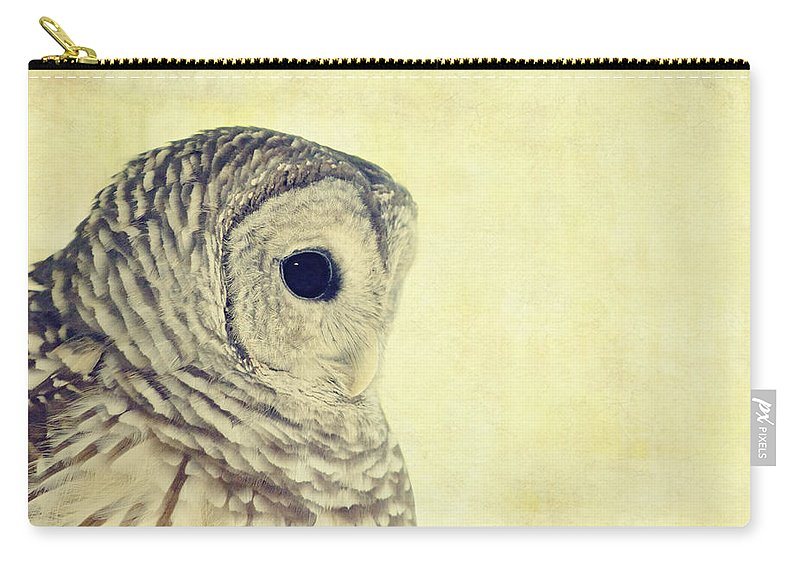 Owl Carry-all Pouch featuring the photograph Lovely Lucy Barred Owl by Stephanie McDowell