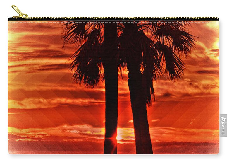 Palm Trees Carry-all Pouch featuring the photograph Loving Palms-the Journey by Janie Johnson