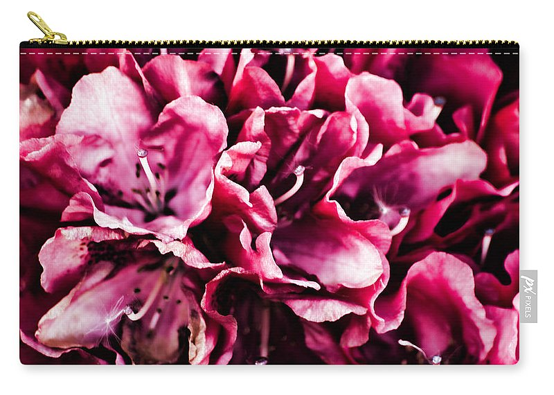 Pink Azalea Carry-all Pouch featuring the photograph Low Key Pink Azalea by Steve Purnell
